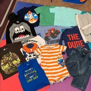 12PCS Bundle Kids Boys Clothes 18-2MOS/2T Mix